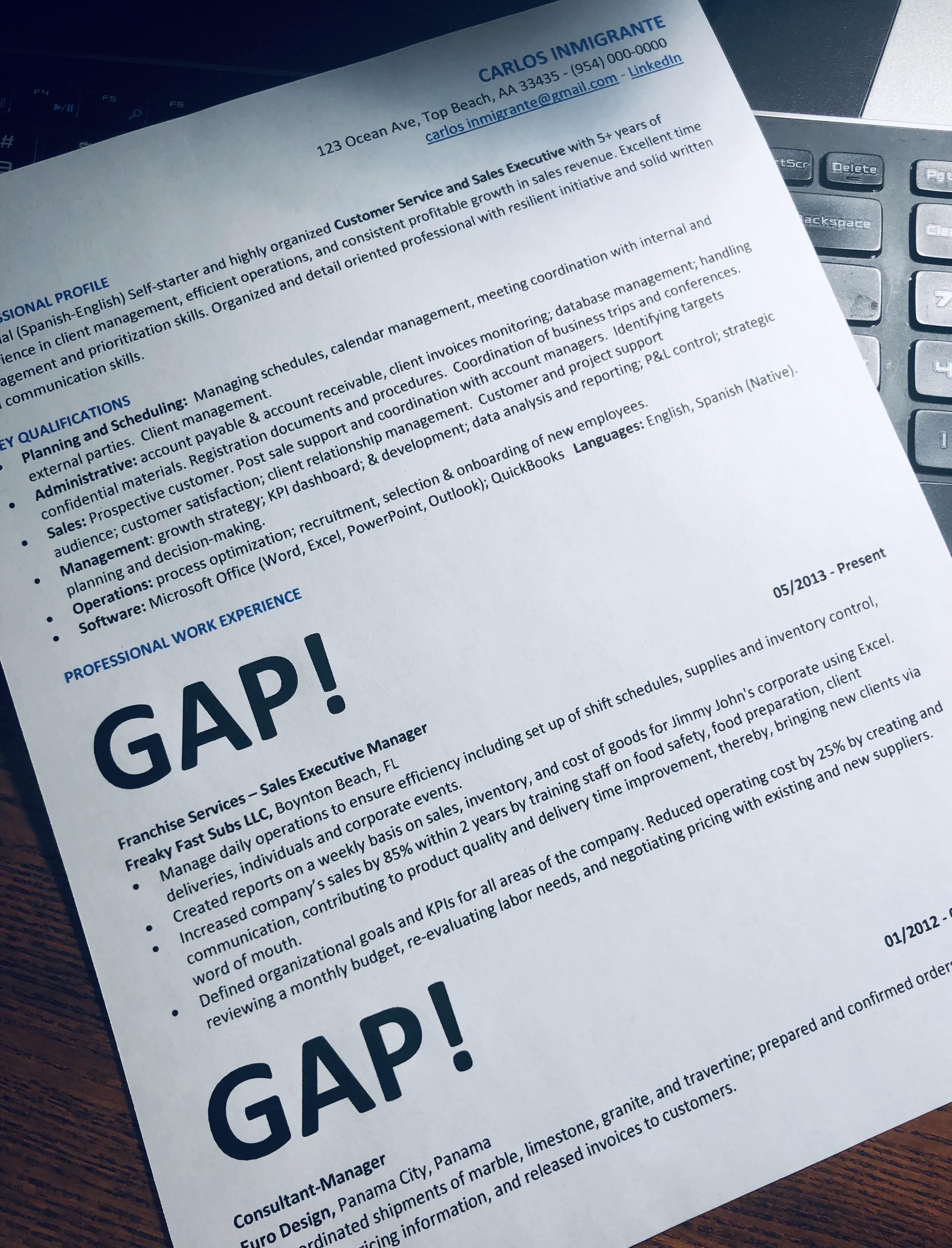 """072 – ¿Cómo explicar los """"gaps"""" en el resume?"""